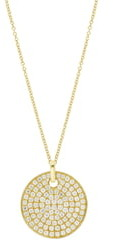 Bony Levy Circular Diamond Medallion Pendant Necklace