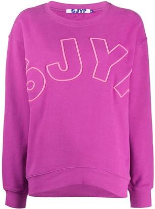 Sjyp embroidered logo sweatshirt