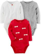 Carter's 3-Pk. Cotton Bodysuits, Baby Girls (0-24 months)