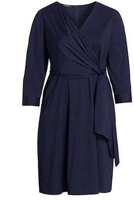 Lafayette 148 New York, Plus Size Penelope Tie-Waist Dress