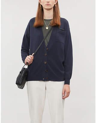 Brunello Cucinelli Round-neck bead-embellished silk-satin T-shirt