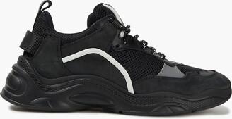 IRO Curve Runner Nubuck, Suede And Mesh Sneakers