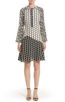 Etro Women's Polka Dot Print Silk Crepe De Chine Flutter Dress