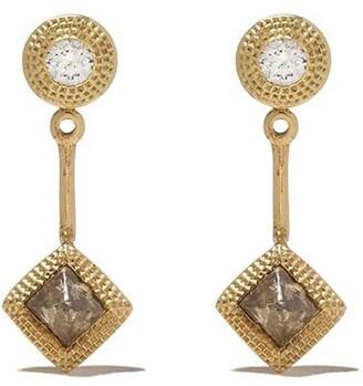 De Beers 18kt yellow gold Talisman diamond detachable earrings