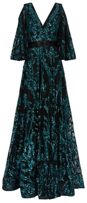 Jovani Sequin Cold-Shoulder Gown