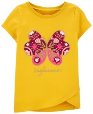 Carter's Little Girls Butterfly Jersey Top