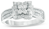 5/8 CT. T.W. Diamond Butterfly Frame Ring in 10K White Gold