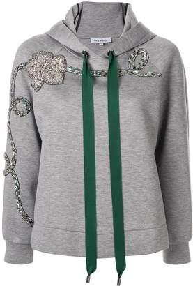 Dice Kayek floral embellished hoodie