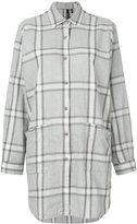 Woolrich oversized checked shirt - women - Cotton - S