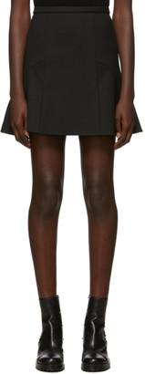 RED Valentino Black Tricotine Tech Miniskirt