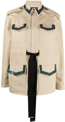 Ports 1961 Sequin-Embellished Safari Jacket
