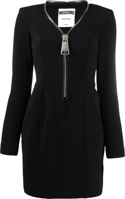 Moschino Zip-Front Mini Dress