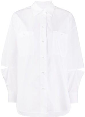 MSGM Slit Sleeve Oversize Shirt