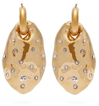 Colville - Crystal-embellished Drop Earrings - Gold