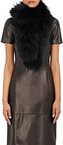 Barneys New York Women's Fur Pull-Through Scarf-BLACK