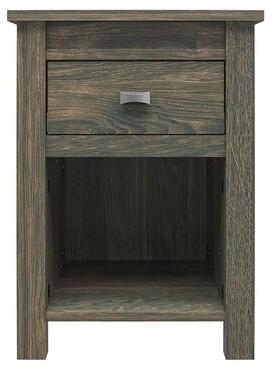 Three Posts Minchinhampton 1 Drawer Nightstand Color: Weathered Oak