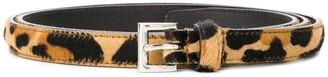 Prada Animal-Patterned Buckle Belt