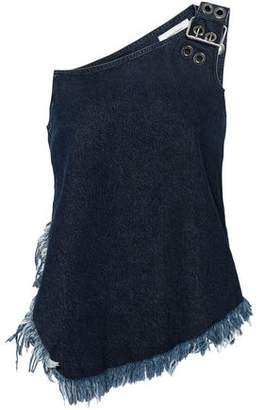 Marques Almeida Marques' Almeida One-shoulder Frayed Denim Top