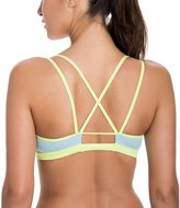 CRZ YOGA Women's Padded Wire-Free Cool-look Criss Cross Strappy Yoga Sports Bra Multicoloured L
