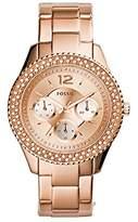 Fossil Women's ES3590 Stella Rose Gold-Tone Stainless Steel Bracelet Watch