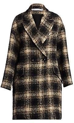 IRO Women's Karsh Plaid Double-Breasted Coat