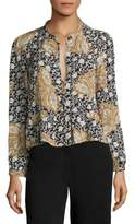A.L.C. Lox Print Long Sleeve Blouse