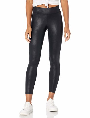 The Drop Women's Nia Leather Look Coated Stretch Nylon Legging