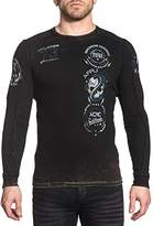 Affliction Men's Long Sleeve Reversible Graphic Thermal T-Shirt