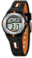 Calypso Children's Digital Watch with LCD Dial Digital Display and Black Plastic Strap K5506/2