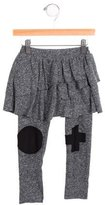 Nununu Girls' Tiered Knit Pants