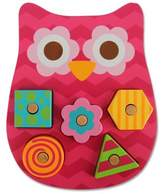 Stephen Joseph Owl Shaped Wooden Peg Puzzle in Pink
