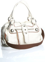 Carla Mancini Domed Barrel Bag in Washed White