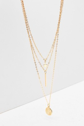 Nasty Gal Womens Dainty Triple Layer Necklace - Gold