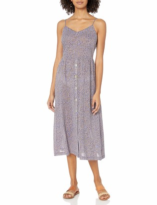 Seafolly Women's Printed Button Front Midi Length Cover Up Dress