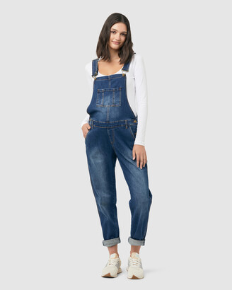 Ripe Maternity Women's Blue Jumpsuits - Denim Overalls - Size One Size, XS at The Iconic