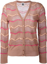 M Missoni buttoned cardigan - women - Cotton/Polyamide/Metallic Fibre - 38