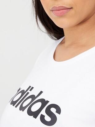 adidas Plus W E Lin S Tee - White