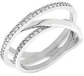 Swarovski Spiral Silver Tone and Crystal Ring