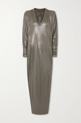 Rick Owens Metallic Jersey Gown - Gray green