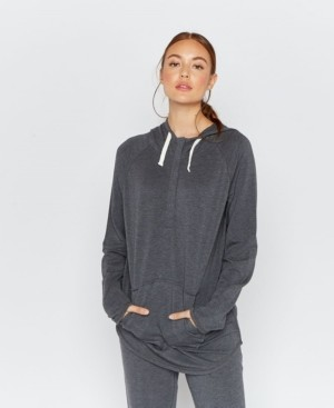 Thread And Supply Thread Supply 3/4 Button Hooded Pullover