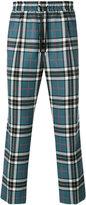 Gucci tartan track pants