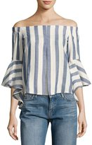 Romeo & Juliet Couture Off-the-Shoulder Striped Blouse