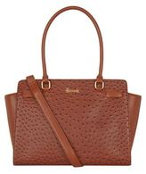 Harrods Novello Ostrich-Embossed Shoulder Bag