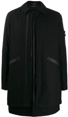 Stone Island Shadow Project zipped single breasted coat