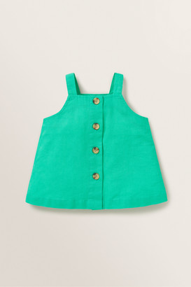 Seed Heritage Linen Button Top
