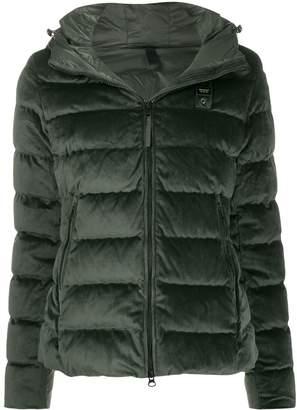 Blauer velvet hooded jacket