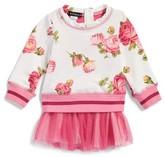 Kate Mack Infant Girl's Floral Print Sweatshirt Tutu Dress