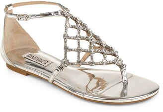 Badgley Mischka Zoanne Embellished Thong Sandal