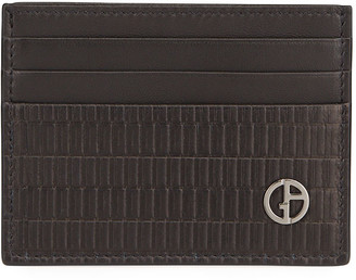 Giorgio Armani Men's Textured Lambskin Credit Card Holder