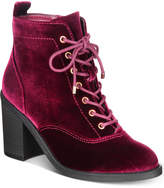 Material Girl Landrey Lace-Up Booties, Created for Macy's Women's Shoes